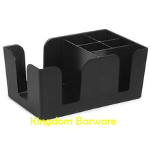 Black Commercial Plastic Bar Caddy Organizer