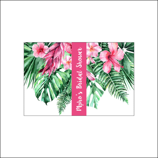 LIP BALM PERSONALISED FAVOUR - Tropical Pink