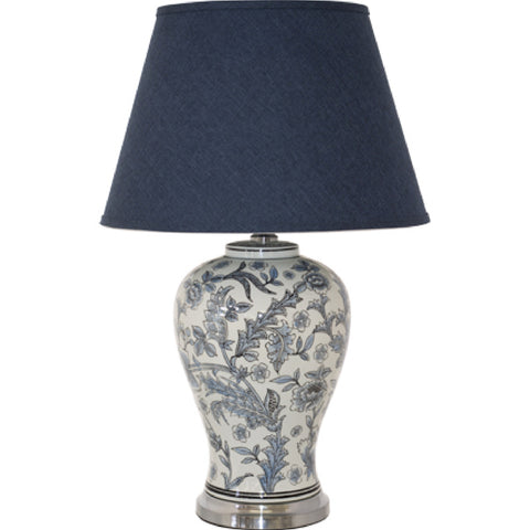 FLOWER VASE LAMP WITH SHADE