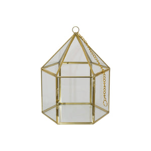 GEO GOLD FLOWER HOUSE 20CM
