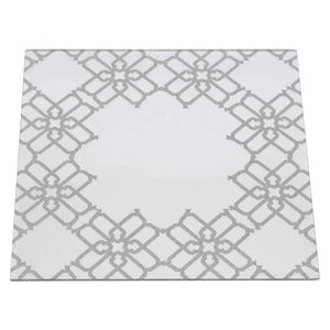 SILVER GLITTER SQUARE UNDERPLATE