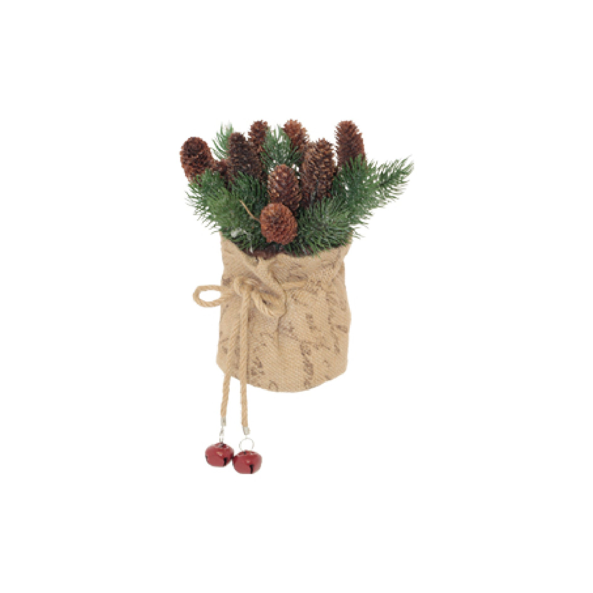 PINECONE PINE NEEDLE HESSIAN ARRANGEMENT