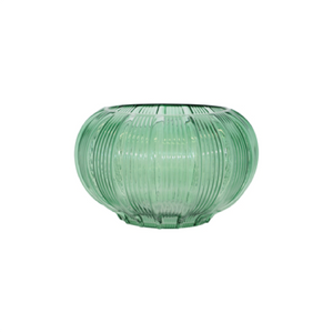 EMERALD RIBBED VASE