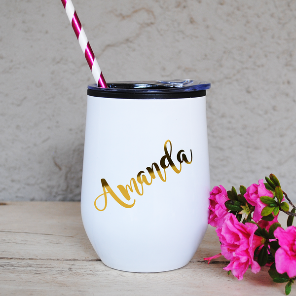 Personalised White Tumbler