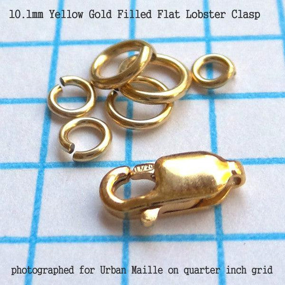 10.1mm Flat Lobster Clasp in 3 Metals