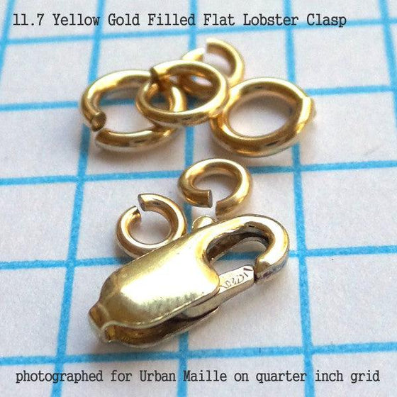 11.7mm Flat Lobster Clasp in 4 Metals