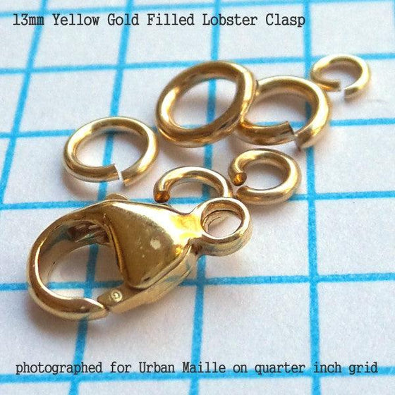13mm Lobster Clasp in 3 Metals