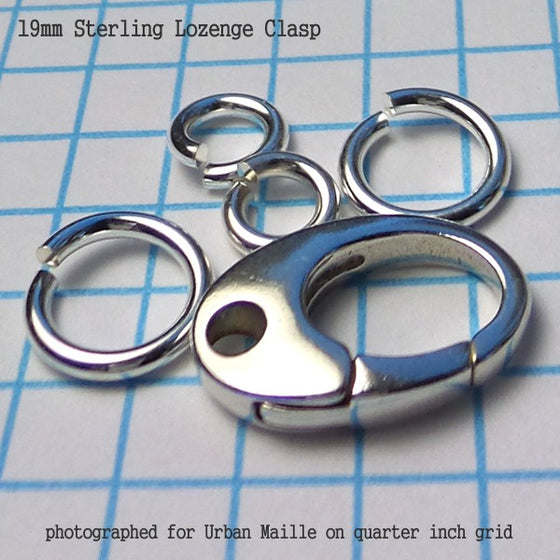 Sterling Lozenge Clasps in 2 Sizes