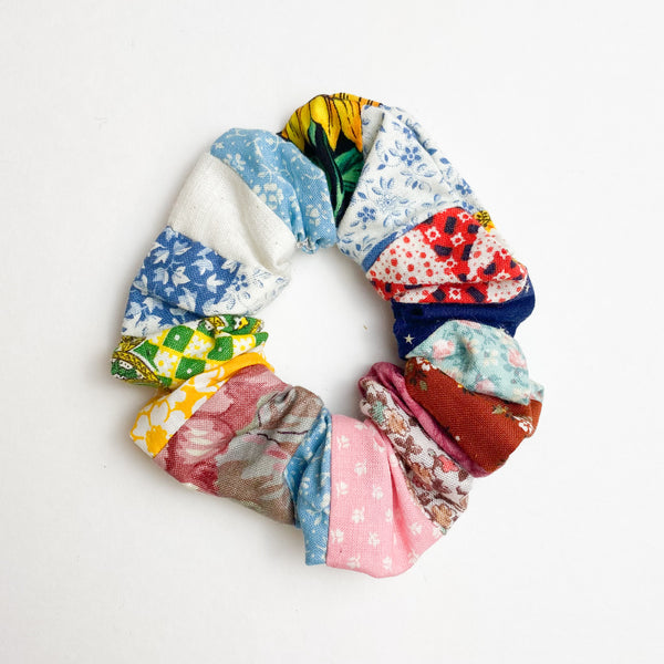 Patterned Quilted Scrunchie