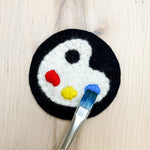 Paint Palette Hand Embroidered Felt Patch