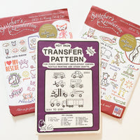 Iron Transfer Embroidery Patterns - Animals + Trucks