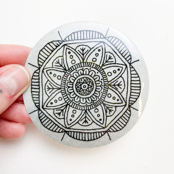 Mandala Embroidery Sticker