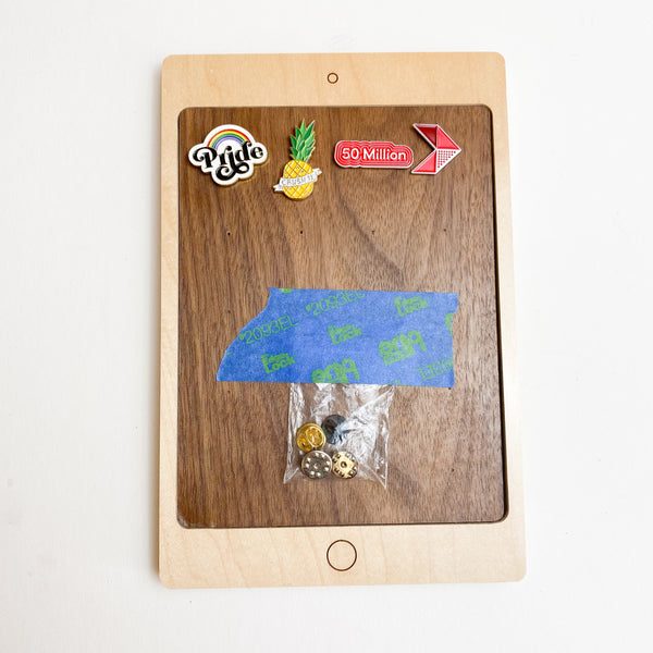 iPad Pin Holder with Enamel Pins