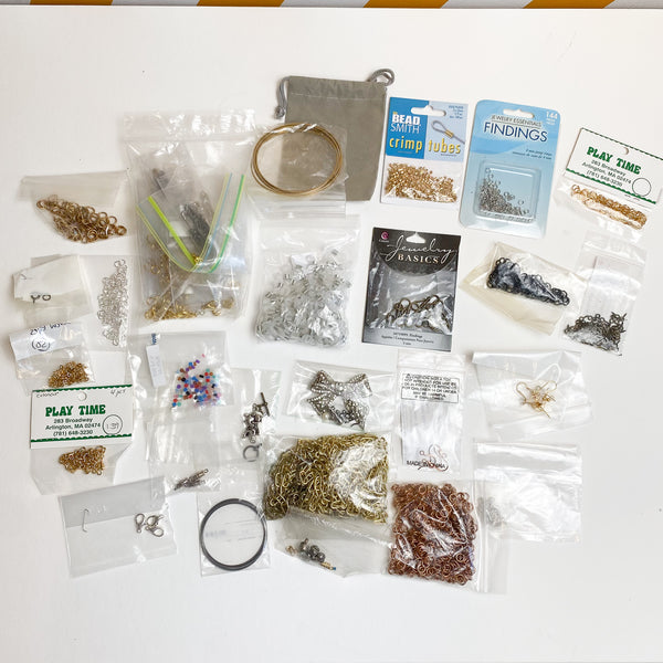Collection of Jewelry Findings + Materials