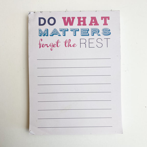 'Do What Matters' Paper Pad
