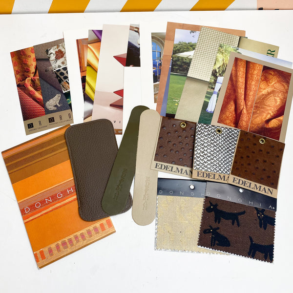 Collection of Design Postcards + Leather Samples