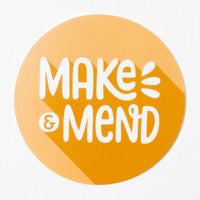 Make & Mend Yellow Circle Sticker