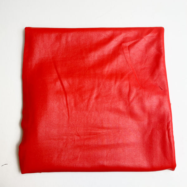 "Shiny Red Knit Fabric - 36"" x 76"""