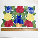 Six Colorful Vintage Floral Placemats