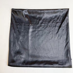 "Shiny Black Fabric  - 28"" x 28"""