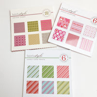 Three Patterned Scrapbook Paper Pads