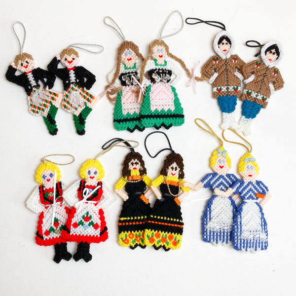Needlepoint People Ornaments
