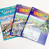 Three Pads of Vacation Themed Scrapbook Paper