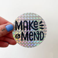 Make & Mend Holographic Sticker