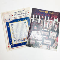 Two Cross Stitch Pattern Booklets