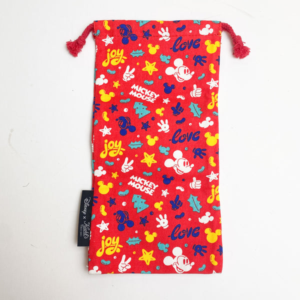 Red Mickey Mouse Drawstring Pouch