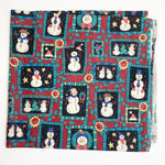 "Rectangle Snowman Quilting Weight Fabric - 36"" x 40"""
