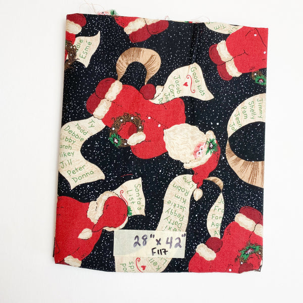 "Santa Quilting Weight Fabric - 28"" x 42"""