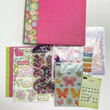 Empty Scrapbook with Coordinating Materials