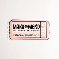 Make & Mend Ticket Sticker