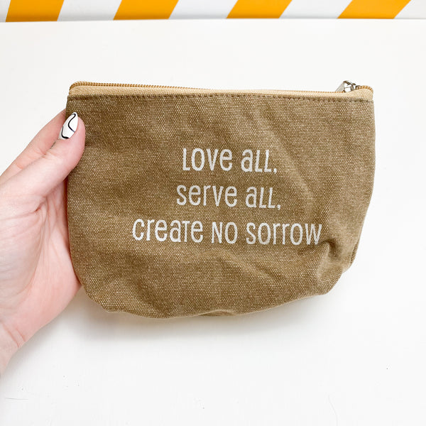 Quote Zippered Pouch