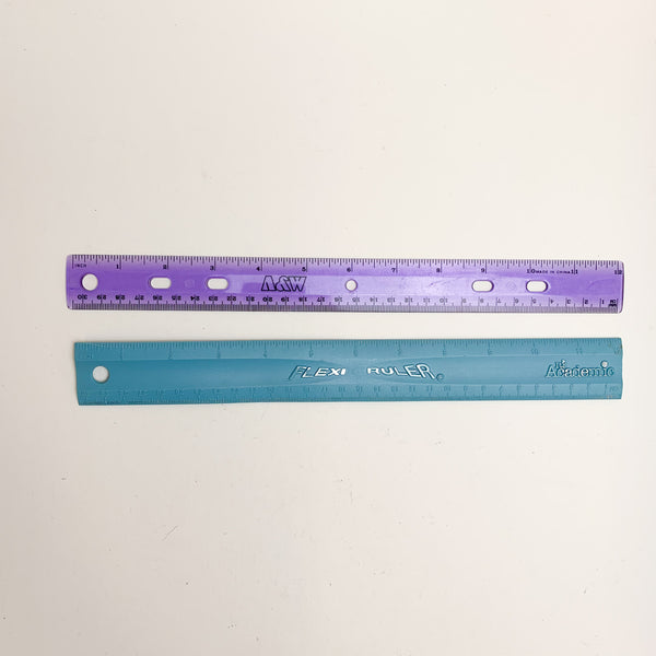 Two Plastic Rulers