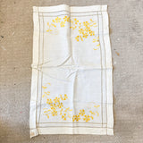 "Yellow Hand Embroidered Vintage Cloth - 18"" x 30"""