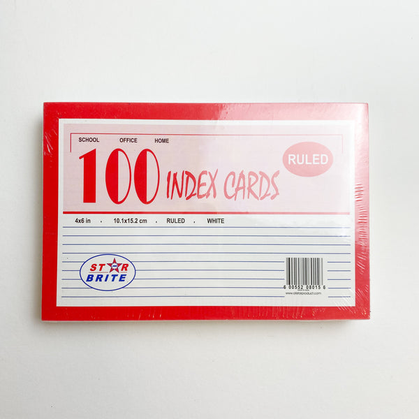 Ruled Index Cards - 100 Count