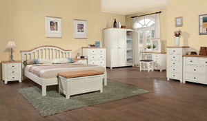 Solid Wood and Oak Bedroom Furniture Setting