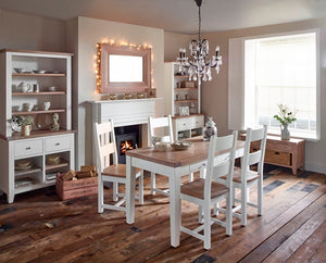 Solid Wood and Oak Dining Setting
