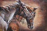 3D Metal Horse Portrait Painting