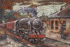 3D Metal Steam Train Painting