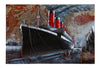 3D Metal Titanic Painting