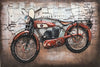 3D Metal Vintage British Motorcycle Painting