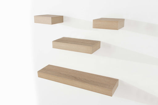4 Pcs Narrow Hudson Shelf Pack   Oak Effect