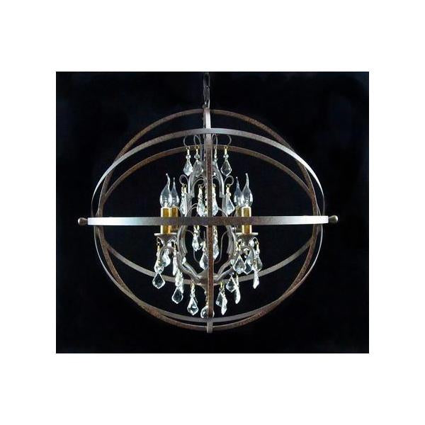 Crystal Chandelier Iron Sphere