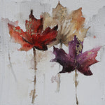 Multicoloured Maple Leaf Canvas