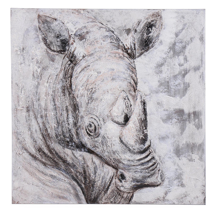 Rhino Conservation Canvas