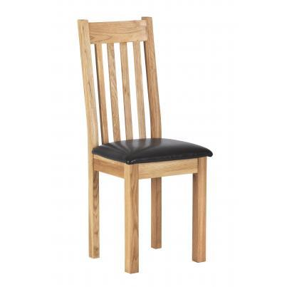 Dining Chair with Bi cast leather seat