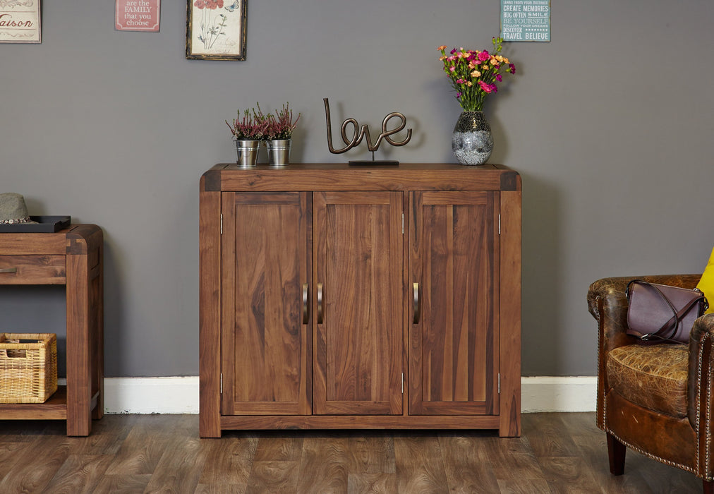 Shiro Walnut Extra Large Shoe Cupboard - bedrooms & dining.co.uk
